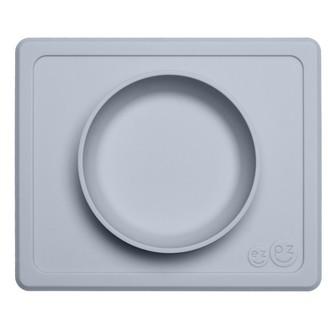 Ezpz Mini Bowl Placemat and Bowl Pewter