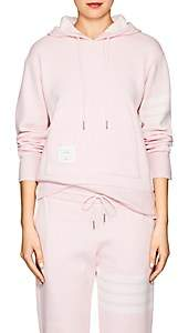 Thom Browne Women's Block-Striped Cashmere-Blend Hoodie - Pink