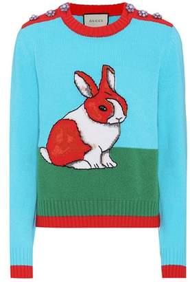 Gucci Embellished intarsia sweater