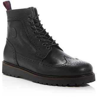 Fred Perry Northgate Wingtip Lace Up Boots $215 thestylecure.com