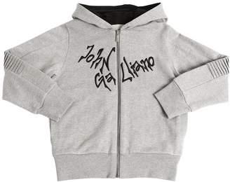 John Galliano Logo Embroidered Sweatshirt Hoodie