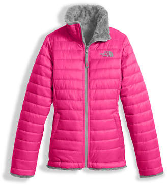 The North Face Girls' Reversible Mossbud Swirl Jacket, Pink, Size XXS-XL