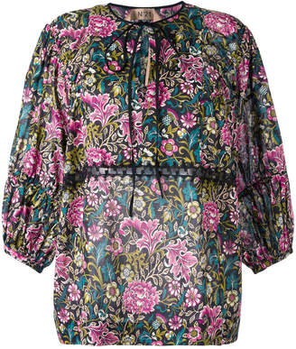No.21 Floral Peasant blouse