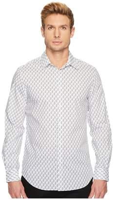 Perry Ellis Regular Fit Bouquet Print Stretch Shirt Men's Long Sleeve Pullover
