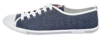 Prada Sport Denim Low-Top Sneakers