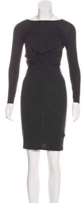 AllSaints Scoop Neck Long Sleeve Dress