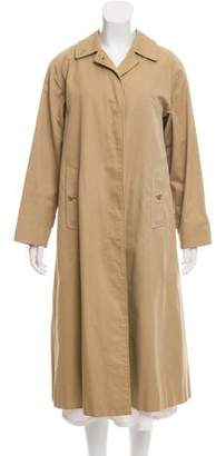 Burberry Vintage House-Check Lined Trench Coat