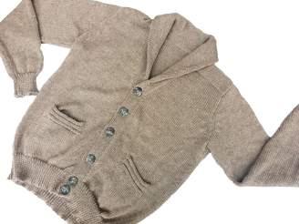 Gucci Sweet Dreams Home 100% Baby Alpaca Charcoal Shawl Collar Cardigan