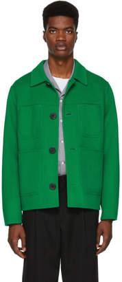 Ami Alexandre Mattiussi Green Wool Jacket