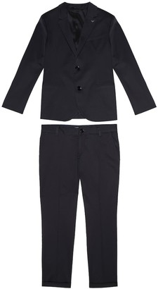 Emporio Armani Kids Stretch cotton suit