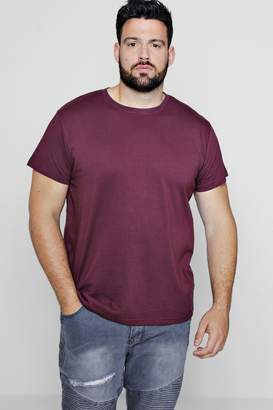 boohoo Big And Tall Longline Basic T-Shirt