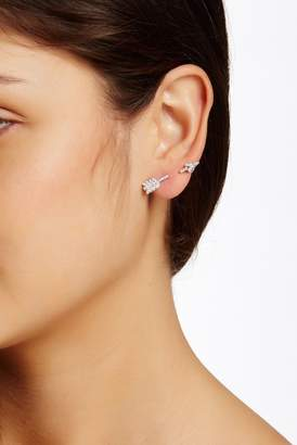 Sterling Forever Through the Ear CZ Arrow Earrings