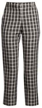 Robert Rodriguez Sophia Plaid Skinny Trousers