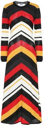 MSGM Wool-blend maxi dress