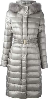 Herno 'Ultralight' fur trim coat