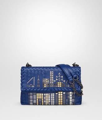 Bottega Veneta Cobalt Nappa Small Olimpia Tower Bag