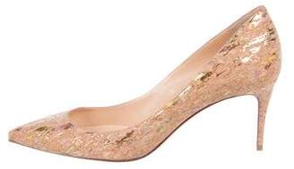 Christian Louboutin Cork Pointed-Toe Pumps