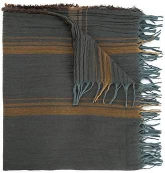 Uma Wang striped fringed scarf