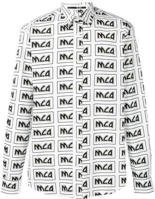 McQ rectangle print shirt
