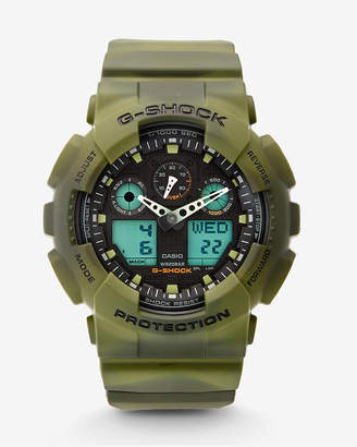 Express G-Shock Extra Large Green Camo Watch