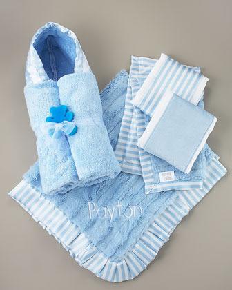 Swankie Blankie Striped Hooded Towel, Plain
