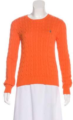 Ralph Lauren Cable Knit Crew Neck Sweater