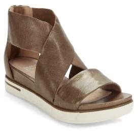 Eileen Fisher Sport Leather Flatform Sandals $195 thestylecure.com