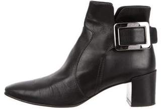 Roger Vivier Square-Toe Ankle Boots