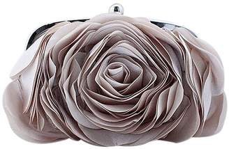 Zakia Rose Flower Dual-use Handbag Messenger Wedding Evening Party