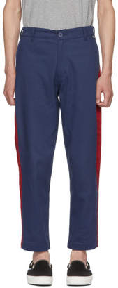 Dickies Construct Blue Slim Stripe Trousers
