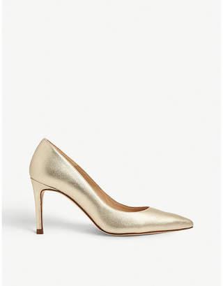 LK Bennett Floret metallic court shoe