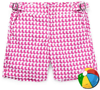 Orlebar Brown Boys Ages 4-12 Russell Aruba Printed Swim Shorts - Pink