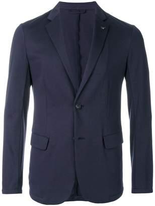 Emporio Armani peaked lapel jersey blazer
