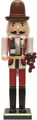 Asstd National Brand 15 Decorative Wooden Winemaker Christmas Nutcracker with Grapes