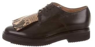 Dries Van Noten Leather Kiltie Oxfords w/ Tags