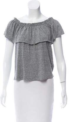 Current/Elliott Off-The-Shoulder Short Sleeve Top