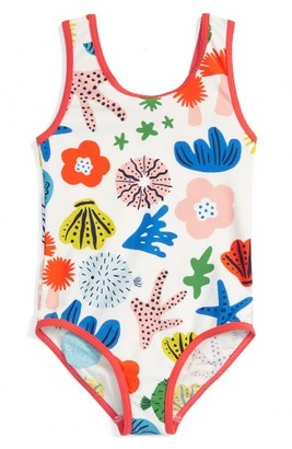 Girl's Mini Boden Print One-Piece Swimsuit $24 thestylecure.com