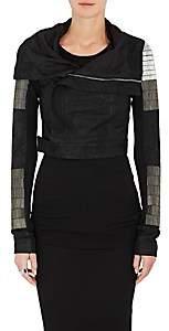 Rick Owens Women's Beaded Blistered Leather Biker Jacket - Black