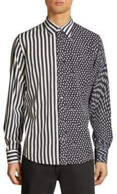 Givenchy Striped & Animal Print Shirt