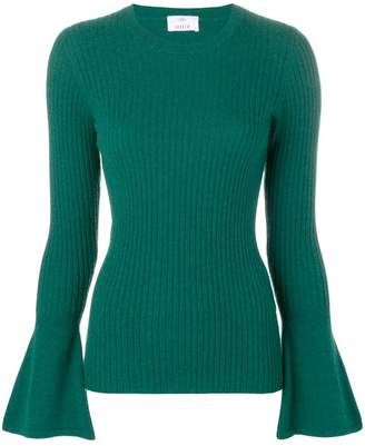 Allude long-sleeve fitted sweater