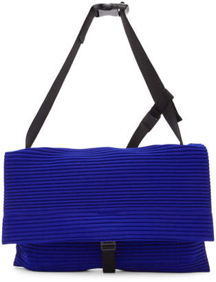 Issey Miyake Homme Plisse Blue Pleated Flat Bag