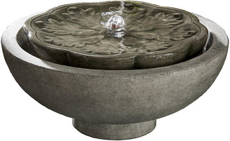"Campania International 16"" Flores Fountain - Alpine Stone"