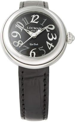 Locman (ロックマン) - LOCMAN ラウンドウォッチ ウィメンズ ケース:ブラック ベルト:ブラック