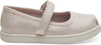Pink Iridescent Droplets Tiny TOMS Mary Jane Flats