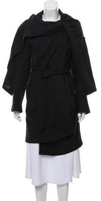 Ann Demeulemeester Wool & Linen Blend Knee-Length Coat