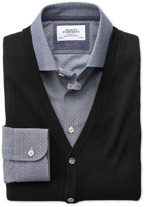 Charles Tyrwhitt Black Merino Wool Vest Size Medium