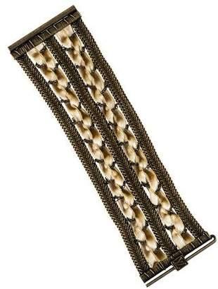 Louis Vuitton Velvet Woven Bracelet