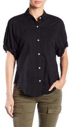 Splendid Button Down Boyfriend Short Sleeve Shirt