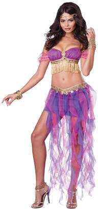 California Costumes Women's Belly Dancer Sexy Two Piece Genie Costume, Pink/Purple