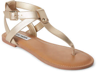 Steve Madden Gold Hidden Strappy Thong Sandals